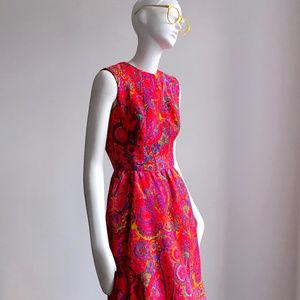 Vintage 1960s Mod Wool Dress sz XS S Betty Draper